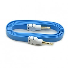 Strong Quality Blue 3.5mm Aux Stereo Male To Male Aux Flat No Tangle Noodle Cable Cord For Apple Ipad4 Ipad Air Ipad Mini Iphone 5/5s,ipod All Mp3 Mp4 Players Sony Creative Samsung, All Laptop Pc And Ard 3.5mm Jack Plug By G4gadget®