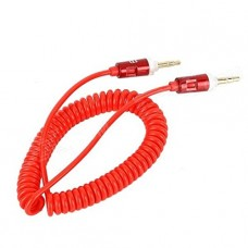 A-ok Quality Red 3.5mm Aux Stereo Male To Male Aux Spiral Cable Cord (1.8 Meter) For Apple Ipad4 Ipad Air Ipad Mini Iphone 5/5s,ipod All Mp3 Mp4 Players Sony Creative Samsung, All Laptop Pc And Ard 3.5mm Jack Plug By G4gadget®
