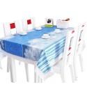 [sky Blue] Waterproof Lace Trim Tablecloths/table Cloths/table Cover (152*203cm)