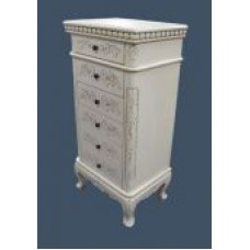 Handcarved Dressing French Style 6 Drawer Chest