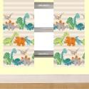 Dinosaur Curtains 54s - Natural Stripe