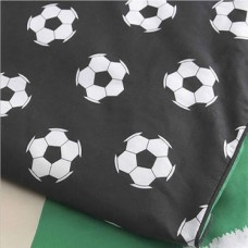 Black Football Single Fitted Sheet And Pillowcase
