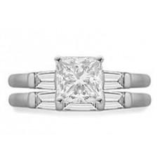 Diamond Shoulder Set Ring With Matching Band