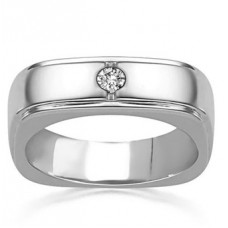 6mm Mens Round Diamond Set Ring
