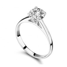 Certified 0.50ct Si3/g Round Diamond Ring