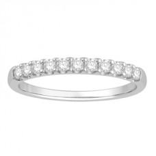 0.25ct  Vs/ef Round Diamond Half Eternity Ring