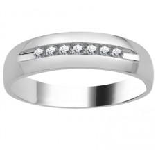 6mm Mens Round Diamond Ring