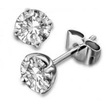 0.31ct I1/fg Round Diamond Stud Earrings