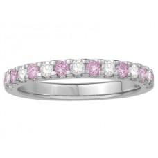 0.50ct Vs/ef Round Diamond Gemstone Eternity Ring