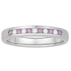 0.15ct Vs/ef Round Diamond Gemstone Eternity Ring