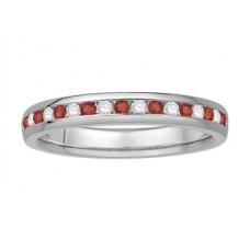 0.25ct Vs/ef Round Diamond Gemstone Eternity Ring