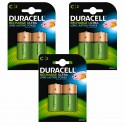 Duracell Rechargeable C 2200 Mah 3 X 2 Pack Batteries Nimh Battery