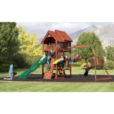 Kids Premium Outdoor Climbing Wall With Swing Set