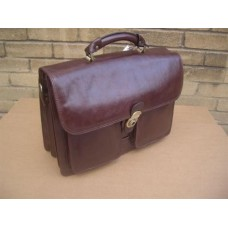Woodland Leather Leather Laptop Briefcase