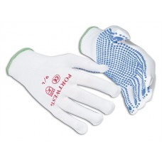 Portwest Workwear Nylon Polka Dot Glove In White