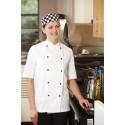 Dennys Chefswear Lightweight Short Sleeve Jacket In White