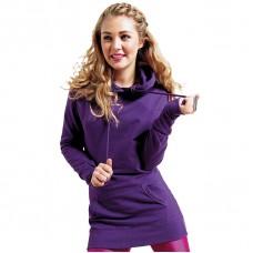 Awdis Just Hoods Girlie Longline Hooded Sweatshirt