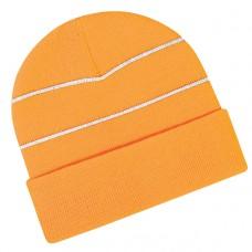 Beechfield Headwear High-viz Knitted Striped Hat