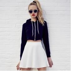 Awdis Just Hoods Women's Girlie Full Zip Cropped Hooded Sweatshirt