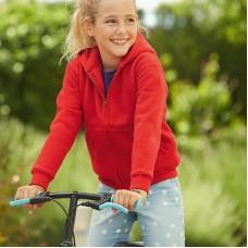 Fruit Of The Loom Kid's Premium Full Zip Hooded Sweatshirt Jacket
