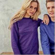 Awdis Just Hoods Women's Girlie Set In Sleeve Heather Sweatshirt
