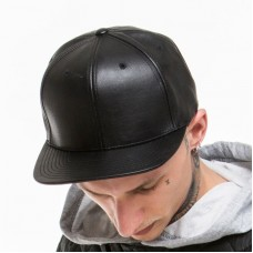 Flexfit By Yupoong Adult's Full Imitation Leather Snapback Cap