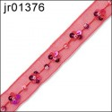 Red Flower Sequined Ribbon