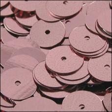 Metallic Dusky Pink Flat Sequins. 8mm