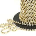 Diamante Chain - Crystal/gold - 4mm