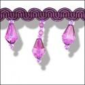 Purple Grape Tear Drop Fringing.35mm