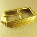 Deco Brass Buckle. Antique Gold. 63x34mm