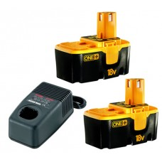 Ryobi One Plus 2 Batteries (18 Volt) & Battery Charger