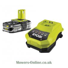 Ryobi 18v Li-ion Plus 1.5ah Slim Pack Battery & Super Charger