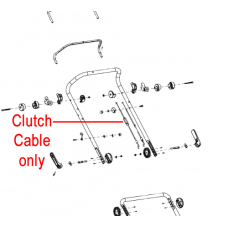 Cobra Lawnmower Clutch Cable 29100126301