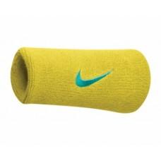Nike Swoosh Double Wide Yellow Wristbands