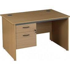Annandale Panel End Rectangular Desks With Single Fixed Pedestal