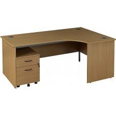 Annandale Panel End Ergonomic Desk With Mobile Pedestal