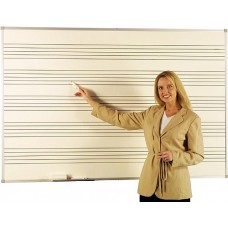 Province Dry Wipe Magnetic Whiteboard With Music Staves