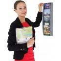 1/3 A4 Four Pocket Wall Mounted Leaflet Dispenser