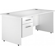 Next Day Status Panel End Rectangular Desks With Single Fixed Pedestal
