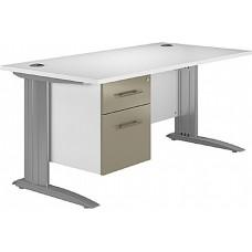 Next Day Kudos Cantilever Rectangular Desks With Single Fixed Pedestal