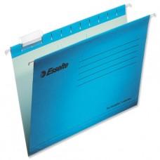 Esselte Pendaflex Suspension File Kraft V-base 15mm Square 30mm Foolscap Blue Ref 90334 [pack 25]