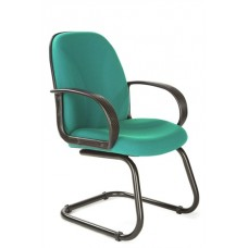Cantilever Framed Boardroom/visitors Armchair With Sculptured Back - Aqua