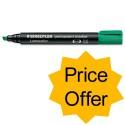 Staedtler Lumocolor Permanent Marker Chisel Tip Green [pack 10] [price Offer] Oct-dec 2012
