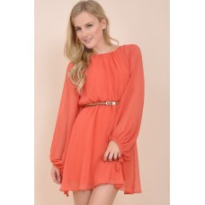 Tfnc Carina Belted Cut Out Dress