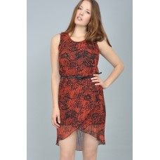 Tfnc Acid Print Belted Dress