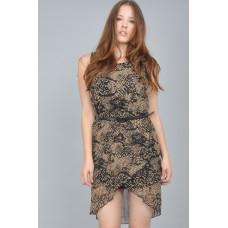 Tfnc Acid Print Belted Dress