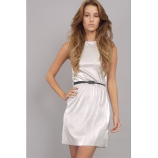 Tfnc Silver Belted Dress