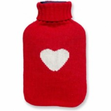 Hot Water Bottle With Funky Knitted Cover